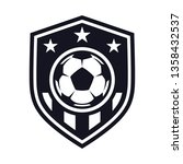 monochrome  football flat icon  ... | Shutterstock .eps vector #1358432537