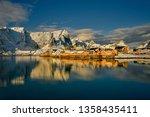 beautiful norway  the lofoten... | Shutterstock . vector #1358435411
