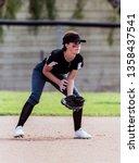 Alert Female Softball Infielder ...