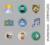 youth vector icon set | Shutterstock .eps vector #1358441201