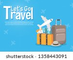it s time to travel.trip to... | Shutterstock .eps vector #1358443091