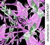watercolor seamless pattern... | Shutterstock . vector #1358447687