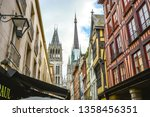 the main street rue du gros... | Shutterstock . vector #1358456351
