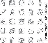 thin line icon set   diagnosis... | Shutterstock .eps vector #1358461961