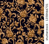 seamless pattern with vintage... | Shutterstock .eps vector #1358466731