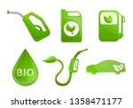 bio fuel icons set. cartoon set ... | Shutterstock .eps vector #1358471177