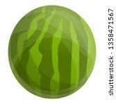 whole watermelon icon. cartoon... | Shutterstock .eps vector #1358471567