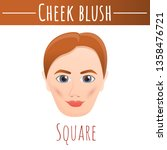 cheek blush square concept... | Shutterstock .eps vector #1358476721