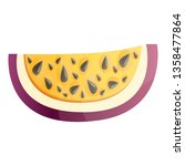 slice maracuja icon. cartoon of ... | Shutterstock .eps vector #1358477864