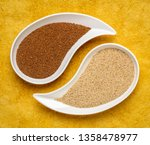 gluten free brown and ivory... | Shutterstock . vector #1358478977