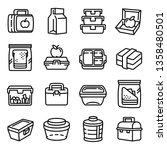 Lunchbox line icon set. Illustration set of lunchbox line icon vector for any web design isolated on white background