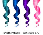 set of creative colored wavy...   Shutterstock .eps vector #1358501177