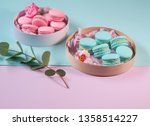 pink and menthol  green ... | Shutterstock . vector #1358514227