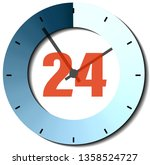 business icon 24 hours... | Shutterstock . vector #1358524727