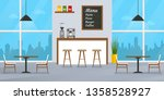 cafe or restaurant interior... | Shutterstock .eps vector #1358528927