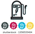 electric charging station icon... | Shutterstock .eps vector #1358535404