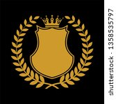 heraldic shield symbol in... | Shutterstock . vector #1358535797