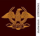 roman eagle symbol of roman... | Shutterstock . vector #1358536361