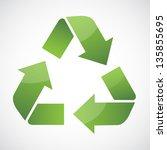 recycle symbol vector | Shutterstock .eps vector #135855695