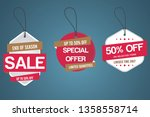 sale tags. special offer ... | Shutterstock .eps vector #1358558714