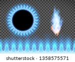 blue flame isolated on a... | Shutterstock .eps vector #1358575571