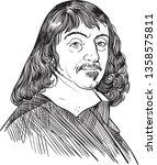 rene descartes  1596 1650 ... | Shutterstock .eps vector #1358575811