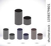 vector icon coin | Shutterstock .eps vector #1358579801