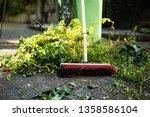 green wheelie bin   garden... | Shutterstock . vector #1358586104