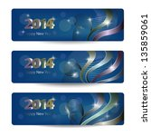 2014 new year vector banners ... | Shutterstock .eps vector #135859061