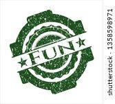 green fun distress rubber... | Shutterstock .eps vector #1358598971