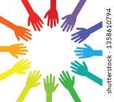 vector illustration rainbow... | Shutterstock .eps vector #1358610794