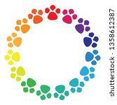 vector illustration of colorful ... | Shutterstock .eps vector #1358612387
