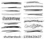 Hand Drawn Underlines On White. ...