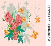 flower and butterfly   Shutterstock .eps vector #135862184