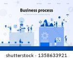 team metaphor business flat... | Shutterstock .eps vector #1358633921