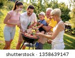 happy big family gathered...   Shutterstock . vector #1358639147