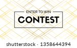 contest elegant banner with... | Shutterstock . vector #1358644394