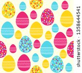 easter seamless pattern.... | Shutterstock . vector #1358644541