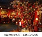 hanging christmas tree... | Shutterstock . vector #135864905