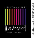 los angeles concept   vector... | Shutterstock .eps vector #1358653694