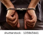 Close Up. Arrested Man...