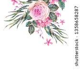 watercolor vintage floral... | Shutterstock . vector #1358658287