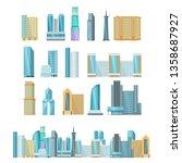 modern high rise city... | Shutterstock .eps vector #1358687927