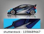 car decal wrap design vector.... | Shutterstock .eps vector #1358689667