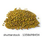 green mung beans isolated on... | Shutterstock . vector #1358698454