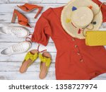 womens clothing  shoes ... | Shutterstock . vector #1358727974