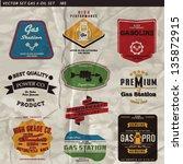 gas vector label set   Shutterstock .eps vector #135872915