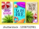 summer design vector poster set.... | Shutterstock .eps vector #1358732981