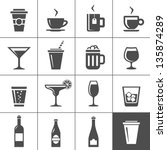 Drinks and beverages icon set. Simplus series | Shutterstock vector #135874289