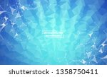 abstract blue geometric... | Shutterstock .eps vector #1358750411